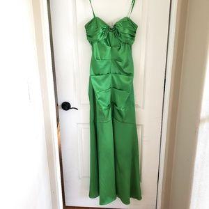 Arden B Size 6 Green Strapless Formal Prom Dress